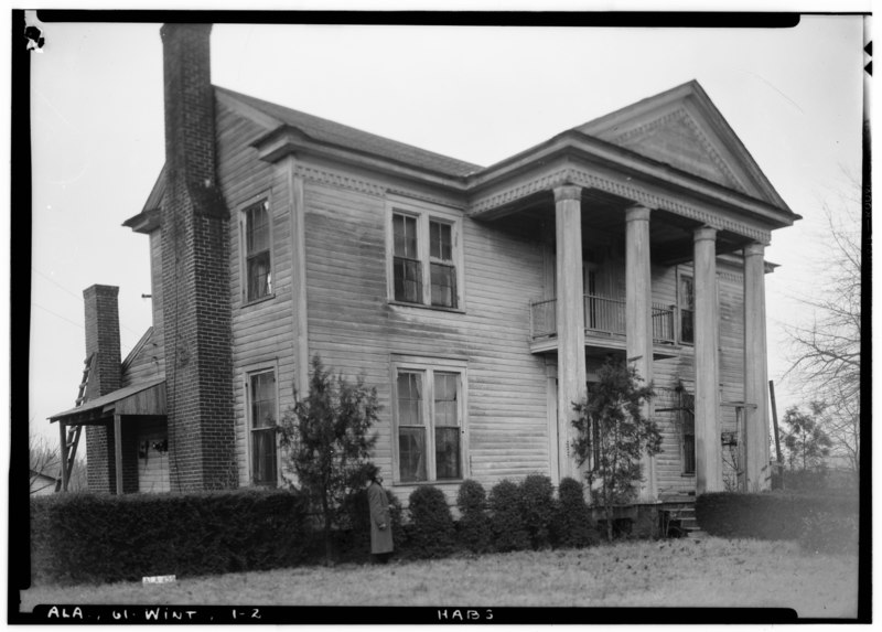 Historic Home Elevation : File historic american buildings survey alex bush