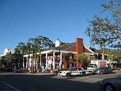Historic town center of Naples at the intersection of 12th Avenue South and 3rd Street South