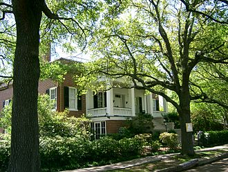 """History of Natchez, Mississippi - """"The Parsonage"""" historic house was built in 1852 in Natchez."""