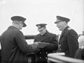 Hm the King Pays 4-day Visit To the Home Fleet. 18 To 21 March 1943, Scapa Flow, Wearing the Uniform of An Admiral of the Home Fleet the King Paid a 4-day Visit To the Home Fleet. A15172.jpg