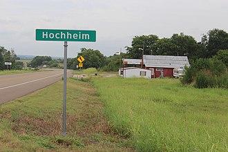 Hochheim, Texas - Entering Hochheim