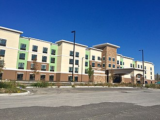 Munster, Indiana - Homewood Suites by Hilton is one of several new additions to the Lake Business Center.