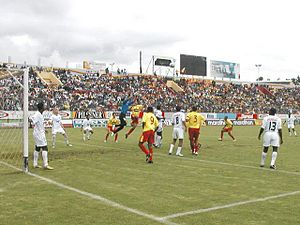 L.D.U. Quito - A Superclásico de Quito match at Estadio Chillogallo in 2005.