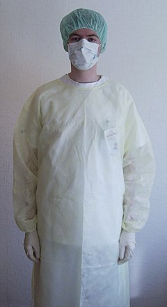 Hospital protective clothing infections contagious diseases