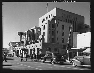 Pueblo Revival architecture - Franciscan Hotel, 1943