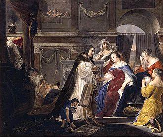 Arnold Houbraken - Houbraken portrayal of the Commemoration of King Mausolus by Queen Artemisia.