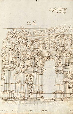 Giuseppe Galli Bibiena - Sketch by Giuseppe Galli Bibiena, 1735–1745