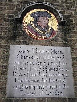 Photo of Thomas More white plaque