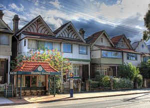 Bondi Road - Terraced houses, Bondi Junction