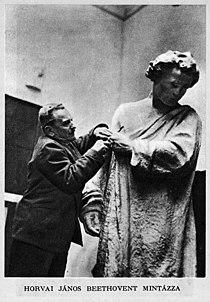 Hungary - Janos Horvai (1874-1944) during sculptures - Az Est Hármaskönyve 1938 Unknown photographer.jpg