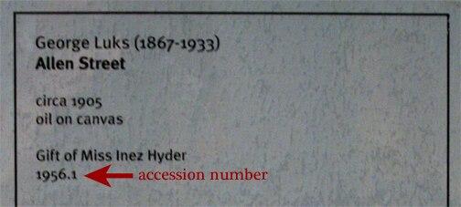 Hunter Museum Label