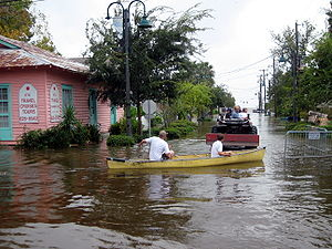 Mandeville, Louisiana - Girod Street during the Hurricane Ike flood in 2008