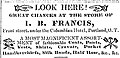 I.B. Francis (Isaac B. Francis) advertisement published in the Oregonian newspaper Aug 28, 1852.jpg