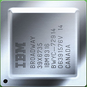 Broadway (microprocessor) - Image: IBM Broadway with heat spreader