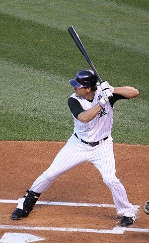 Seth Smith - Smith batting for the Colorado Rockies in 2010.