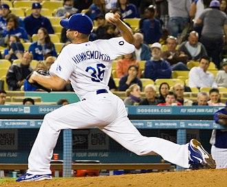 Blake Hawksworth - Hawksworth with the Los Angeles Dodgers