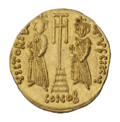INC-3023-r Солид. Констант II, Константин IV. Ок. 661—668 гг. (реверс).png