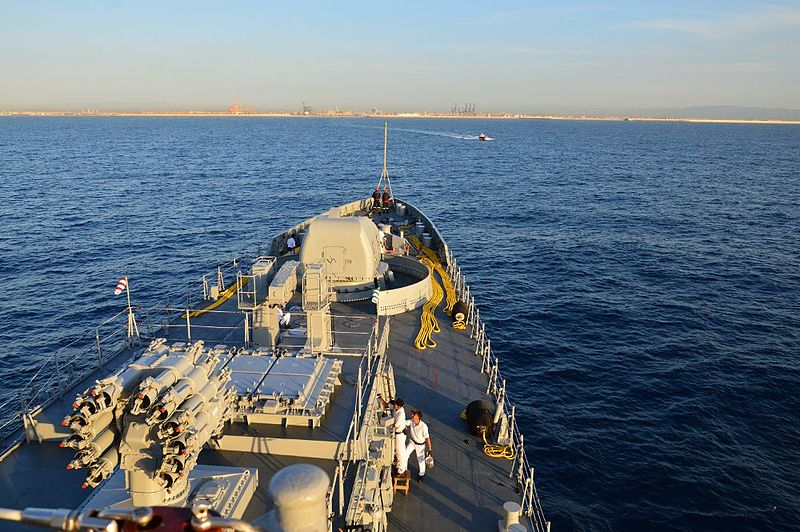 File:INS Trikand approaching port of Valencia, Spain.jpg