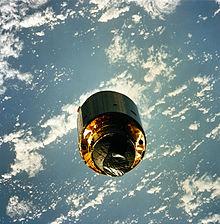 Il satellite INTELSAT VI subito dopo la riparazione eseguita dalla missione STS-49.