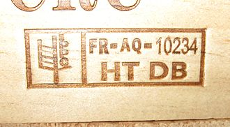 ISPM 15 - A photo of the IPPC seal on a wine shipping crate