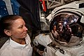 ISS-64 Shannon Walker along with Soichi Noguchi inside the Quest airlock.jpg