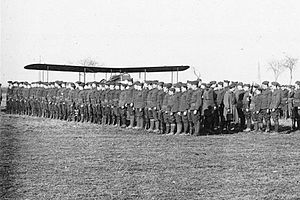 85th Aero Squadron - : IV Corps Observation Group, 2d United States Army review - Croix de Metz Aerodrome (Toul), France, November 1918