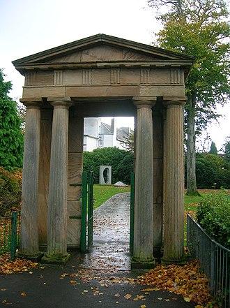 Bellahouston Park - Image: Ibroxhill House Portico