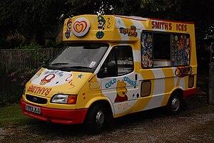 A 1999 Ford Transit Ice Cream Van at Heath Vil...