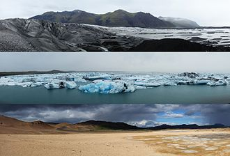 Iceland - Three typical Icelandic landscapes