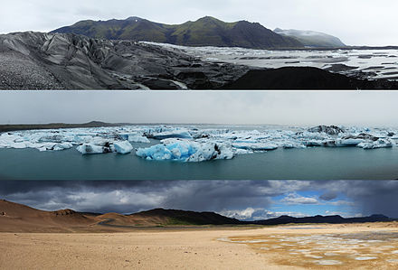 A sample of three typical Icelandic landscapes. - Iceland