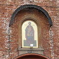 Icon of Saint Yuri II Vsevolodovich (founder of Nizhny Novgorod) above the entrance to the Kremlin.jpg