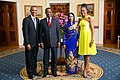 Idriss Deby with Obamas 2014.jpg