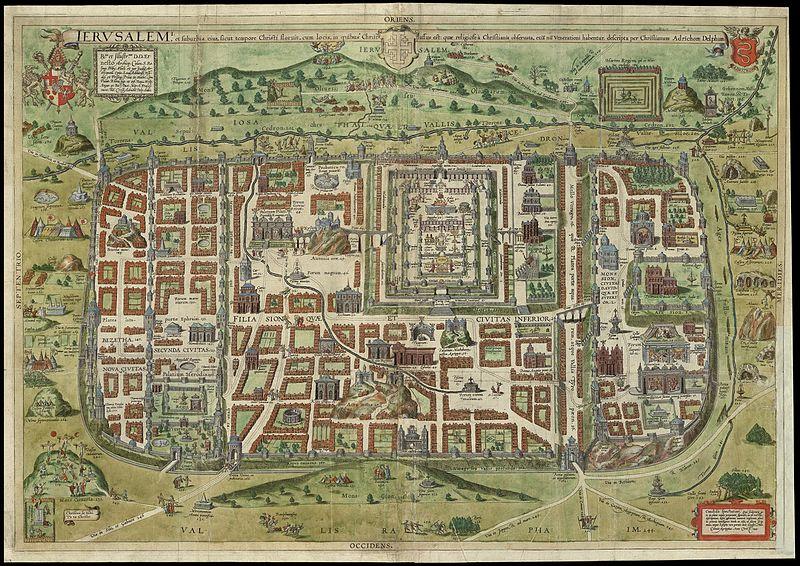 File:Ierusalem, et suburbia eius, sicut tempore Christi floruit...descripta per Christianum Adrichom Delphum ^-cartographic material.jpg