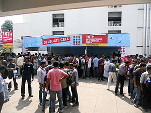 International Film Festival of Kerala - Rush at delegate pass distribution cell at Kalabhavan theatre