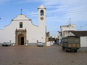The parish centre, with the parochial church of Santa Catarina