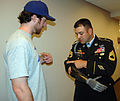 Ike Davis with Sgt 1st Class Leroy Petry 2011.jpg