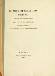 Francesco Maria Avellino: Il mito di Ciparisso