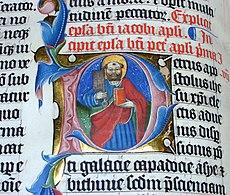 Pormenor de uma Bíblia do século XV