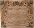 Illustrated family record (Fraktur) found in Revolutionary War Pension and Bounty-Land-Warrant Application File... - NARA - 300201.tif
