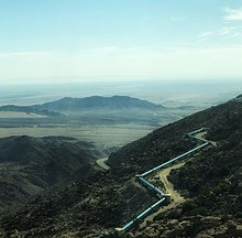 A photo of the Imperial Valley taken from the mountains in Baja California.