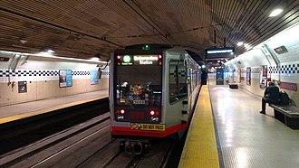 Forest Hill station (Muni Metro) - An inbound Muni Metro train at Forest Hill station