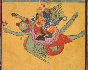 Vishnu and Lakshmi on Garuda