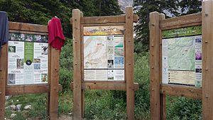 Grays Peak Trail - Information signs at trailhead.