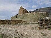 İnka taş işçiliğinden bir örnek. Ekvador'daki Ingapirca kalıntıları.