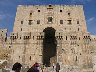 Citadel of Aleppo - The inner gate of the citadel