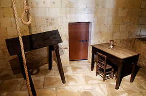 Wooden horse (device) - Cavalletto at the Inquisitor's Palace, in Birgu
