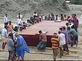 Installation of Experimental floating landing station at Meghai-Jamuna Adarsha ghat, Sirajganj 33.JPG