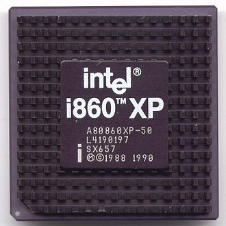 Intel i860 - Intel i860 microprocessor (50 MHz edition)