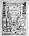 interieur naar het noorden , reproductie van tekening door jan goeree 1700 bezit g. leonard, laren n.h. - amsterdam - 20012053 - rce