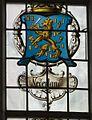 Interieur zuidbeuk, boven het ingangsportaal, detail van het gebrandschilderde raam- Het Laatste Avondmaal - Medemblik - 20528804 - RCE.jpg